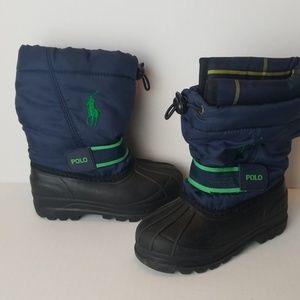 Ralph Lauren Polo Blue & Green Boots Tot's sz 6